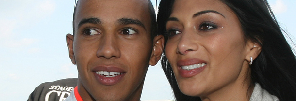 Lewis Hamilton and Nicole Scherzinger photographed by Silverstone Circuits Limited at Flickr.