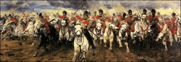 Cavalry charge by Elizabeth Thompson, Lady Butler sourced from Wikipedia.
