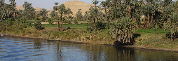 The River Nile Between Luxor and Aswan photographed by Ian Sewell for Wikipedia.