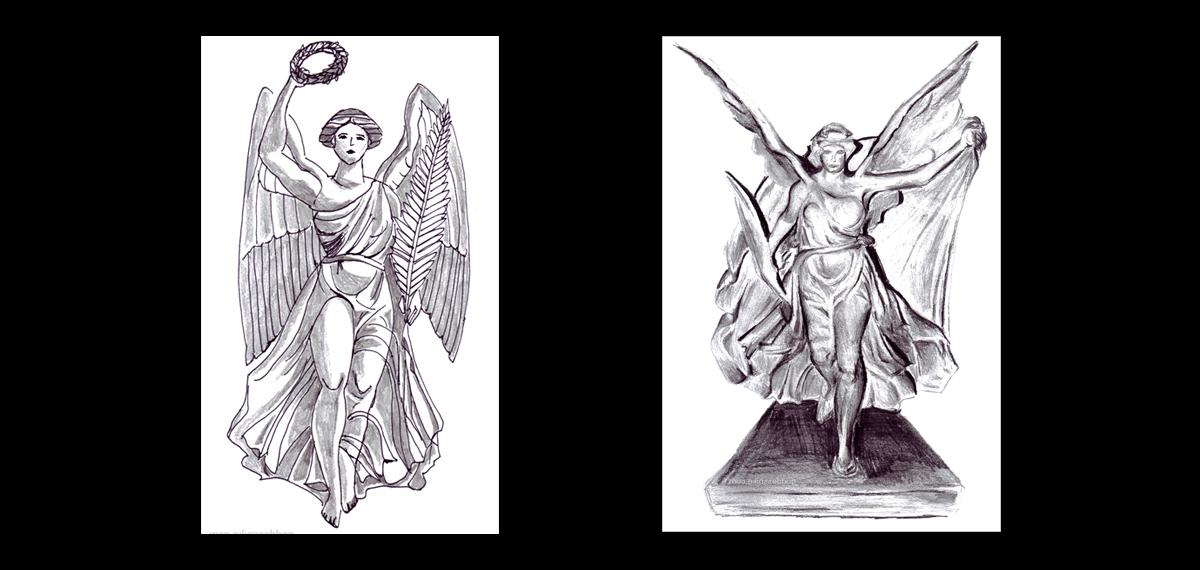 Goddess Nike Gallery Sculpture Ephesus Samothrace Rhodes